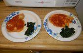 Talapia tomaten Chutney w / verwelkt Greens voor 2