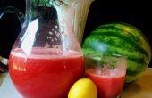 Watermeloen aardbeien limonade