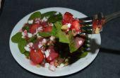 Aardbei Walnut spinazie salade