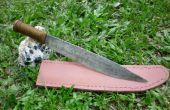 Hoe maak je een mes schede van leer