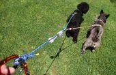 Riem voor 2 honden touw
