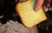 Met behulp van brood te zweten een lekkende koperen pijp