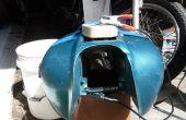 Elektrolytische roest verwijderen uit een motorfiets gastank