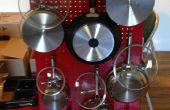 Snelle & gemakkelijk opknoping Pegboard Pot & Pan Rack
