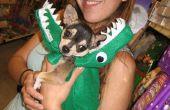 Gator, draak, slang kostuum voor hond of prop... weinig naaien, lichtgewicht, en snel