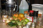 Groene tomaat pittige Relish