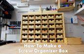 Hoe maak je een doos van de organisator voor het opslaan van schroeven