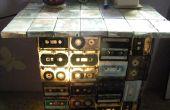 DIY tabel en lamp (van oude audio tapes)
