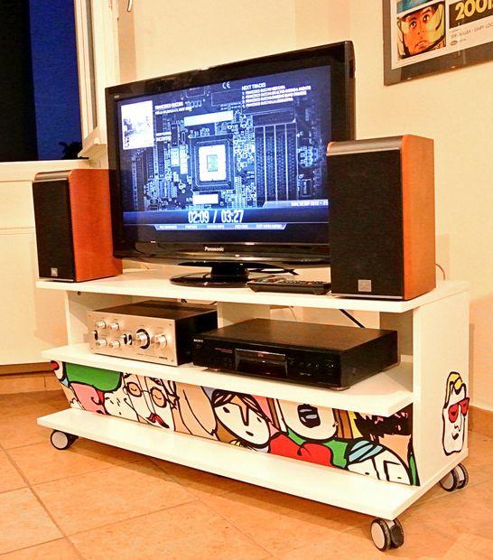 Goedkoop Tv Meubel Ikea.Een Pc Die Is Ingesloten In Een Ikea Benno Tv Meubels Cadagile Com