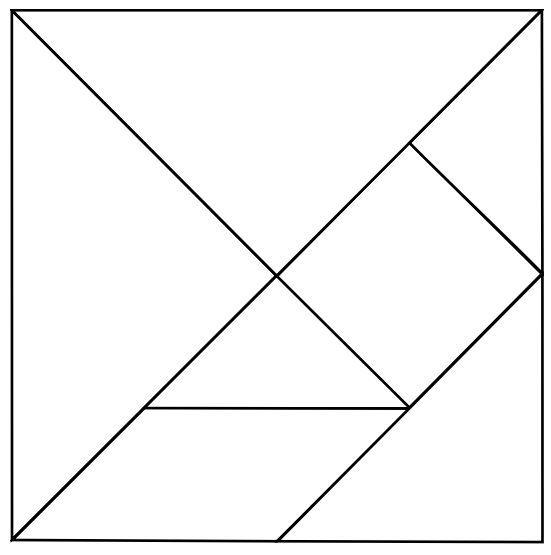 tangram raadsel  stap 2 tekenen upplanning  cadagile