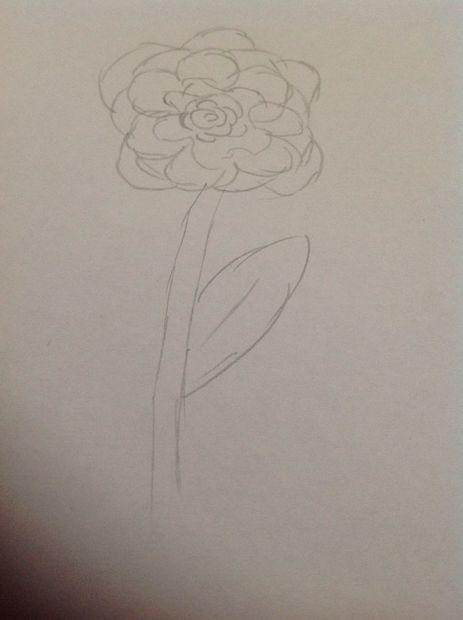 Verwonderlijk Mooie bloem tekening (beginners) - cadagile.com AK-22