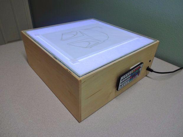 hoe maak je een led lichtbak - cadagile