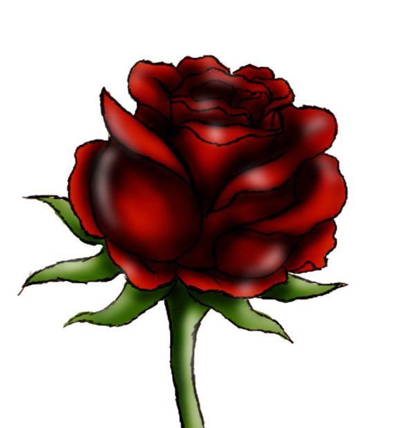 Wonderlijk Hoe teken je een rode roos - cadagile.com LD-47