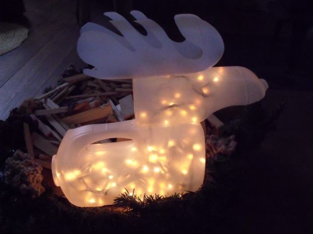 Rudolf, het rendier verlichte fles - cadagile.com