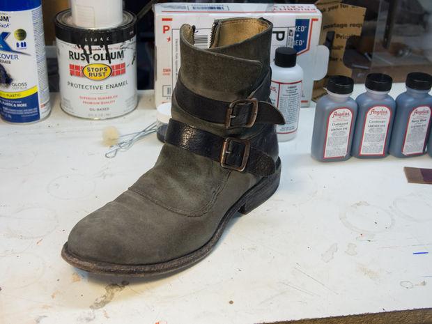 vans schoenen verven
