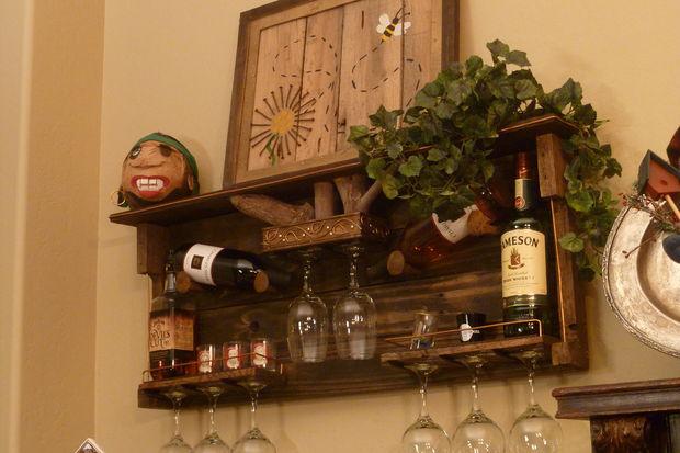 Nieuw Pallet houten wijnrek en Liquor plank - cadagile.com IG-51