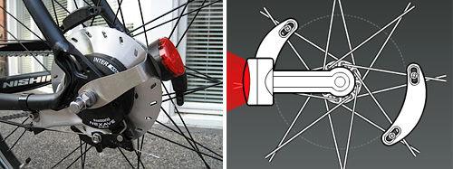 Magnetische inductie fietsverlichting (Mod) / Stap 1: \