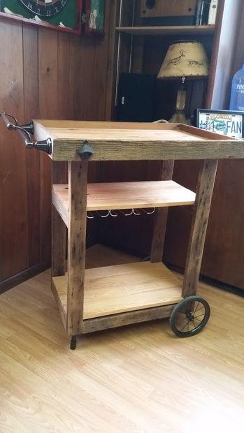Verrassend Geregenereerde schuur hout Bar kar - cadagile.com FH-14