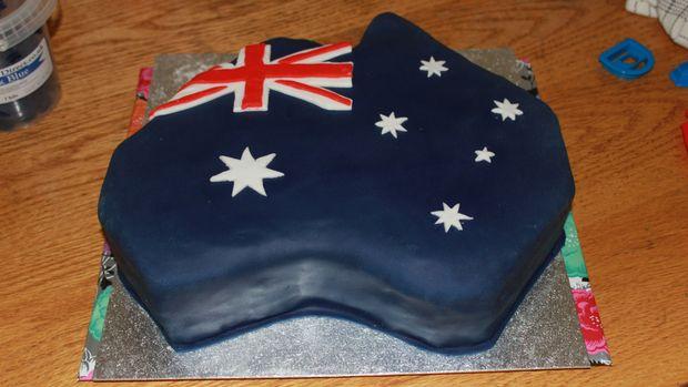 taart australie Hoe maak je een Australië vormige vlag taart   cadagile.com taart australie