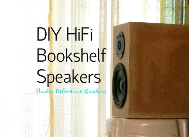 DIY HiFi boekenkast luidsprekers (Studio referentie) - cadagile.com