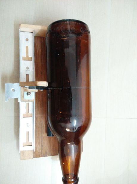 Zeer Glazen fles cutter en warlis kunst / Stap 6: Fles eindelijk ZI61