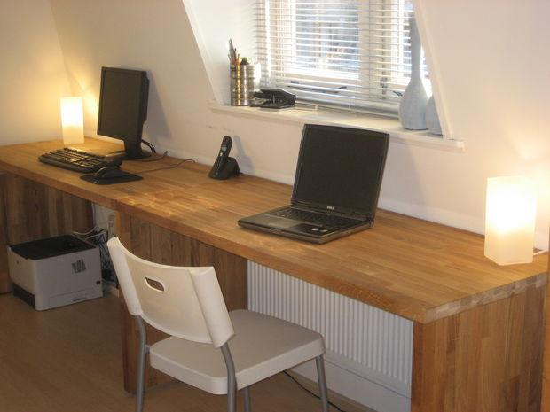 Grote eiken bureau van keuken worktops cadagile
