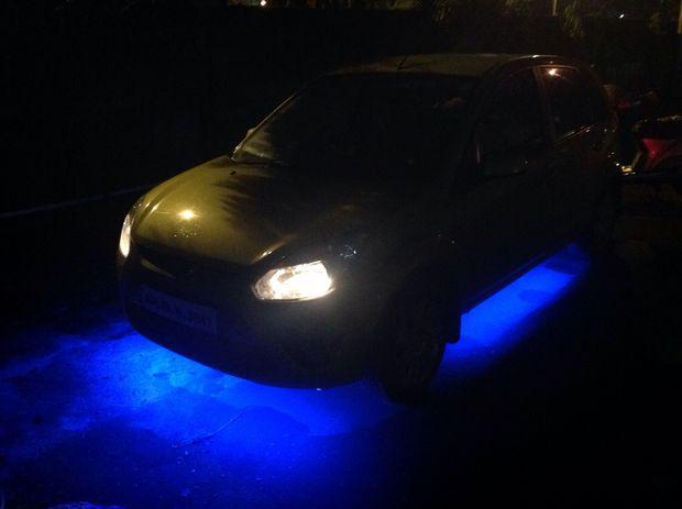 DIY auto bodemplaat verlichting onder 500 Indiase roepies of net ...