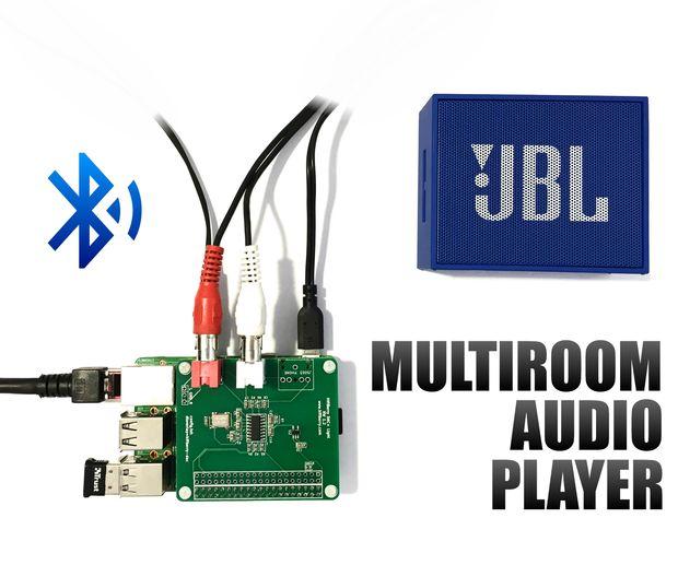 3 Audiospelers In 1 Raspberry Pi Met Bluetooth Eenvoudige