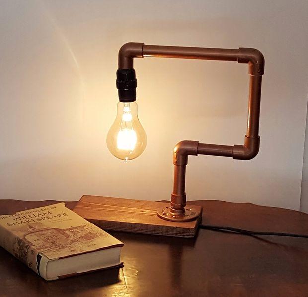 Genoeg Edison Lamp gemaakt met hout en Faux koperen pijp / Stap 4 &MC57