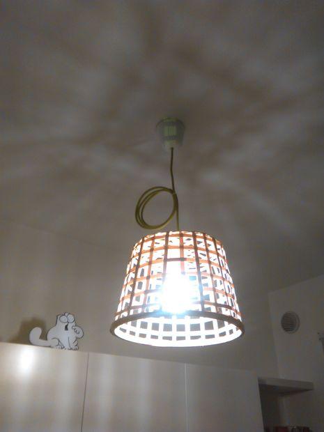 Hangende lamp met ikea gaddis bamboe mandje   cadagile.com