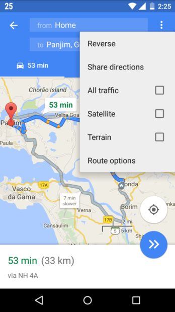 google maps route opslaan