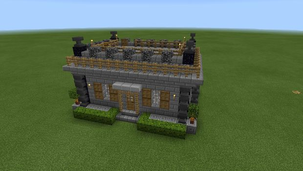 minecraft pe middeleeuws huis - cadagile
