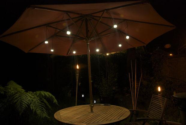 Patio paraplu Jar ledverlichting - cadagile.com